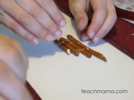 pretzel patterns learning during snacktime