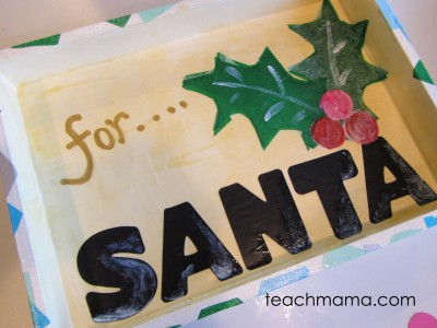 santa cookie tray sparkle