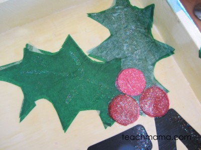 sweet homemade santa cookie tray --sparkle