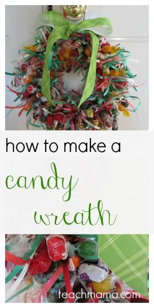 candy wreath | teachmama.com