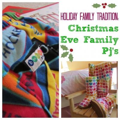 christmas eve tradition: family pajamas