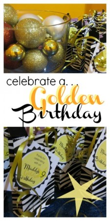 golden birthday party