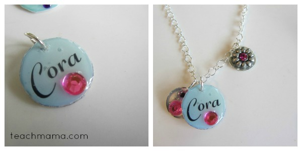 homemade name necklaces for girls and boys cora