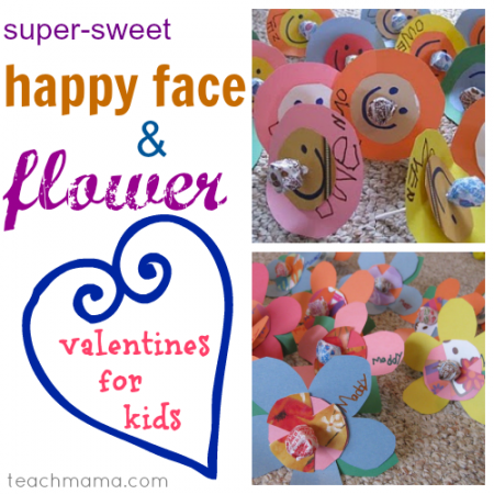 happy face and flower valentines