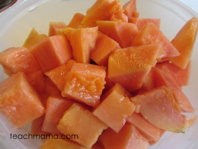 papaya new for us fruit chunks