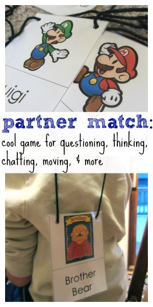 partner match game | teachmama.com