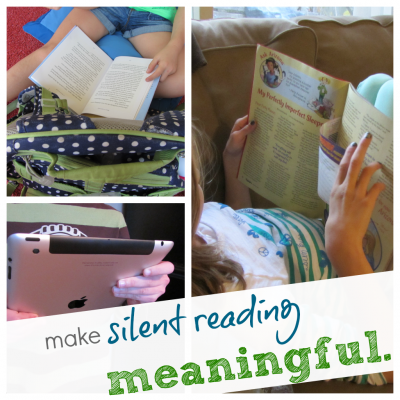 make silent reading more meaninful