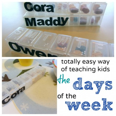 teach kids the days of the week