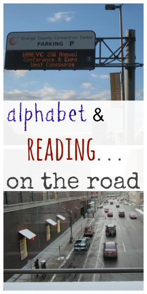 alphabet and reading on the road pinterest cover