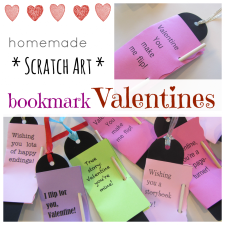 homemade bookmark valentines cover