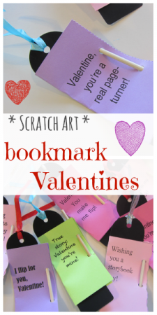 homemade Scratch Art bookmark valentines: easy, cool, kid-happy