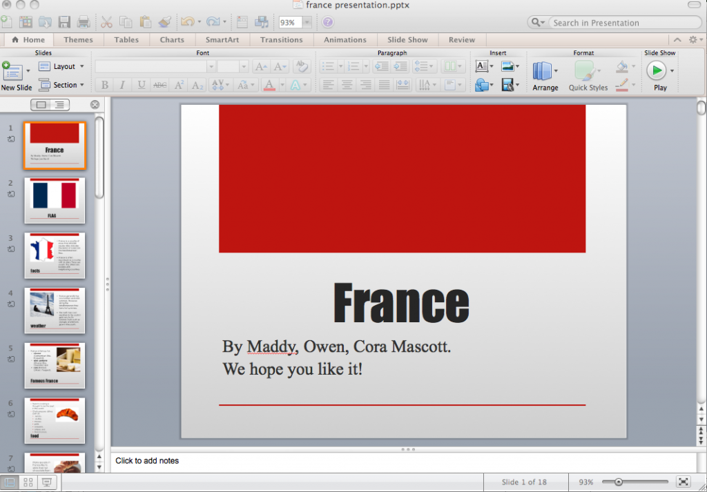 france ppt full screen