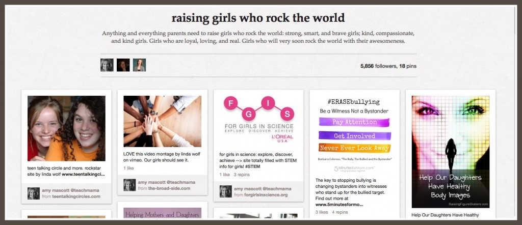 pinterest board: raising girls