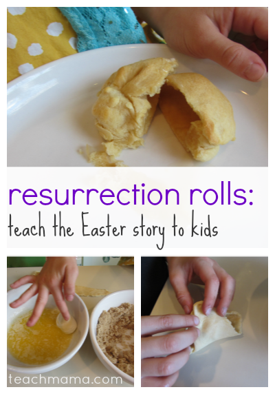 esurrection rolls teach the easter story to kids