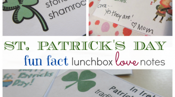 st. patrick's day fun fact lunchbox notes: and non-fiction reading