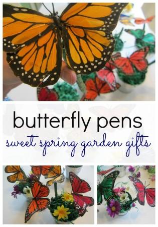 butterfly pens sweet spring garden gift