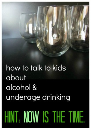 talk to your kids about alcohol and drinking