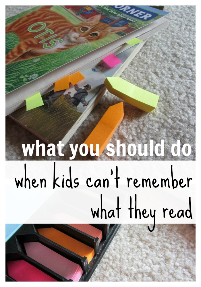 what to do when your child can't remember what he reads