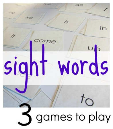 3 all-time best games to play with sight words