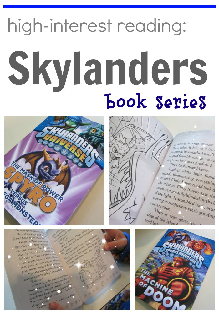 high interest reading skylanders books