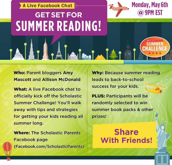 summer reading facebook chat: scholastic