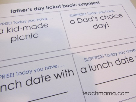 fathers day surprise tickets
