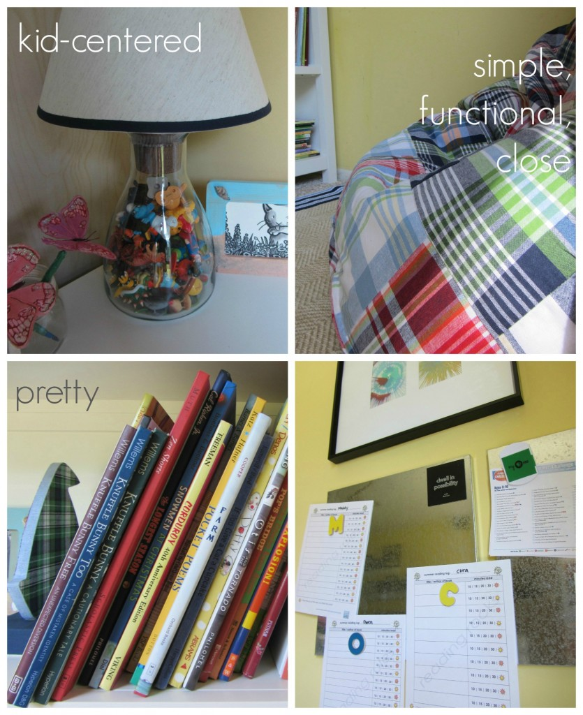 how to create a kid friendly book nook
