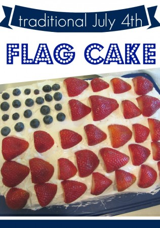 kid-friendly july 4th treat: flag cake