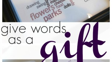 give words as a gift: word conscious kids use wordle