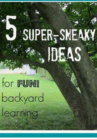 5 ideas for sneaky learning and backyard fun