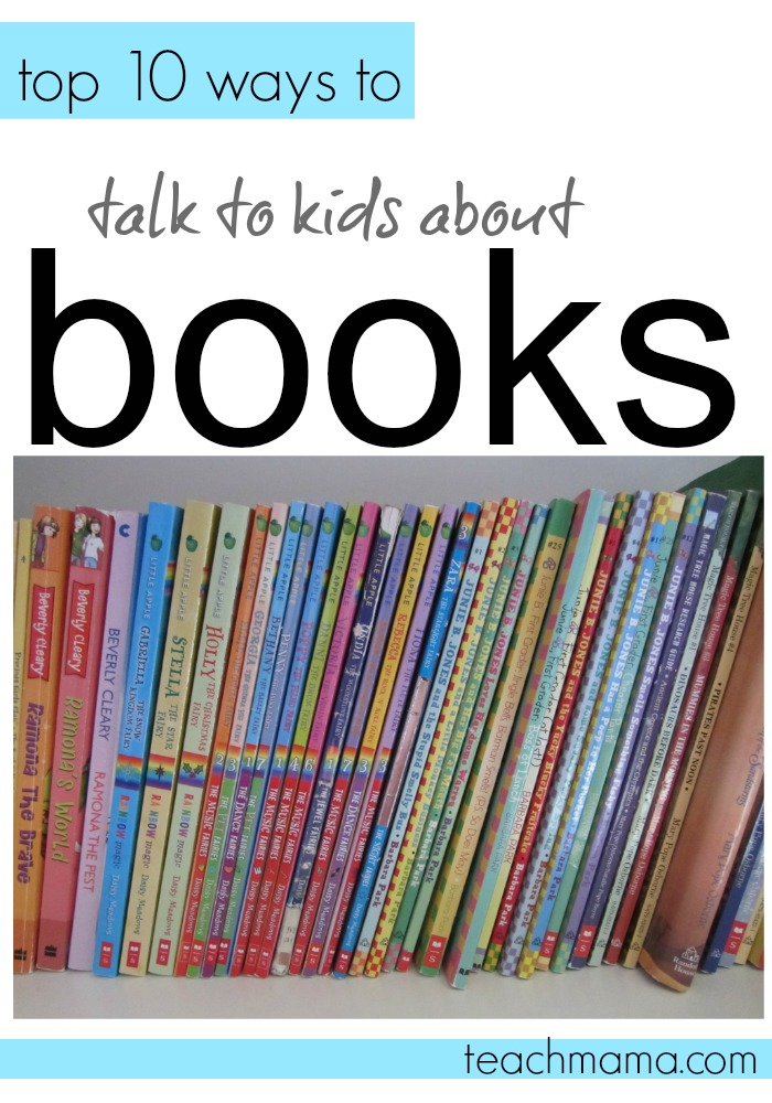 op 10 ways to talk to kids about books