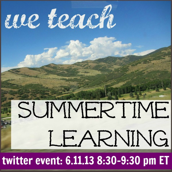 we teach summer twitter event promo 6.11.13