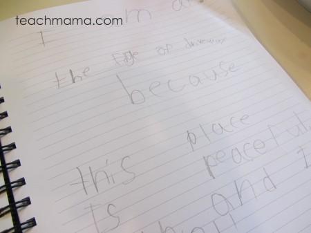 descriptive writing tabletop surprises -