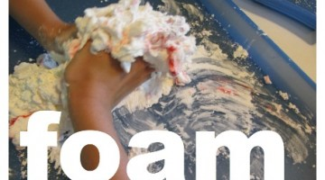 foam dough: serious rainy day indoor fun