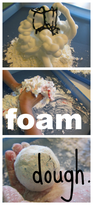 foam dough: fun for a rainy day