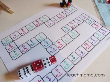 make your own math game tabletop surprises - 4