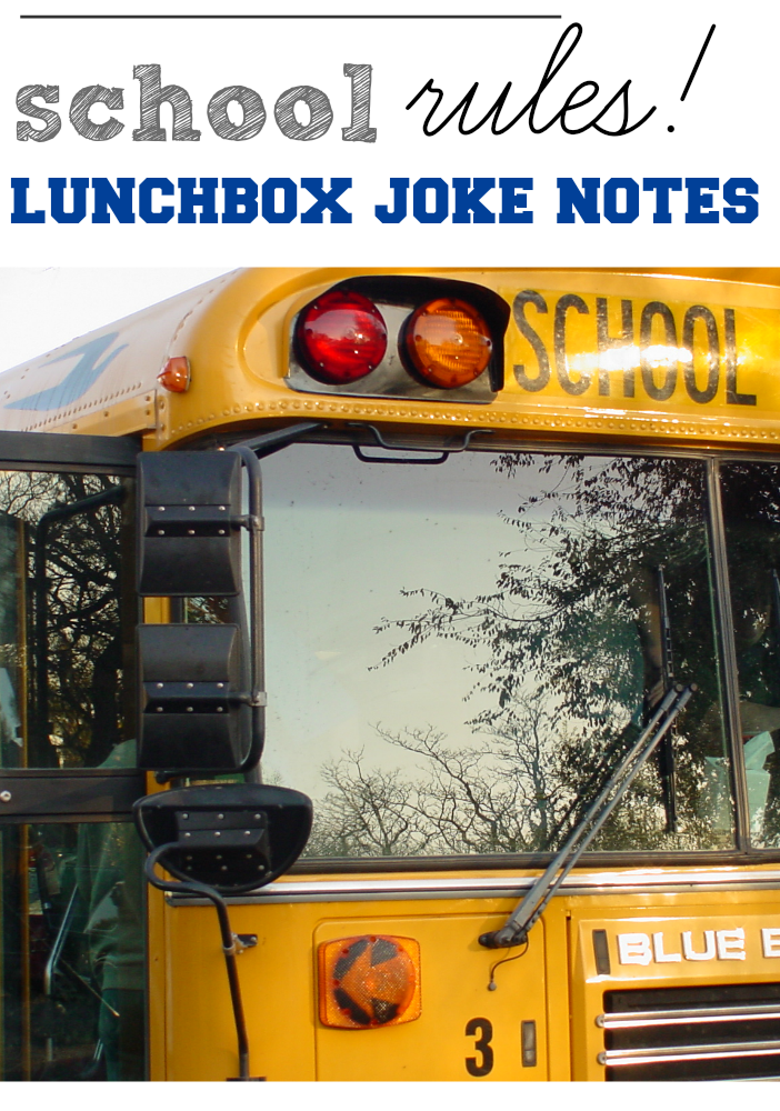 school rules lunchbox joke notes