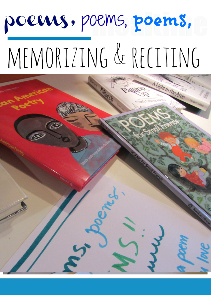 reading, reciting, and memorizing poems