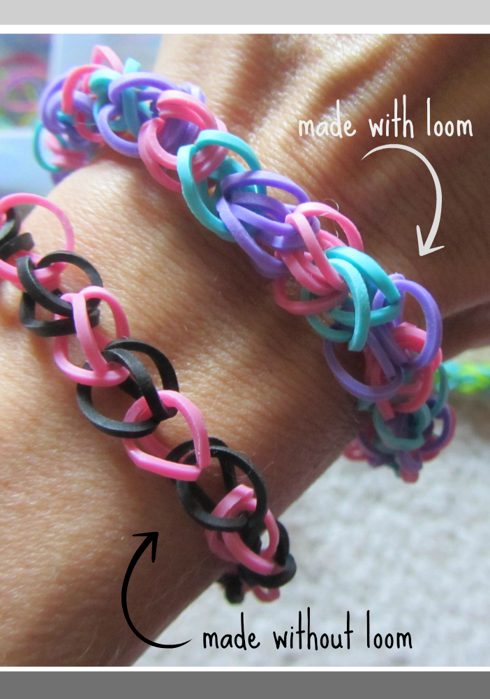 rainbow loom bracelets with and without loom
