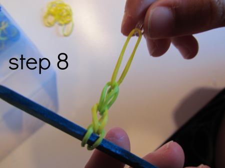 rainbow loom bracelets without the loom step 8