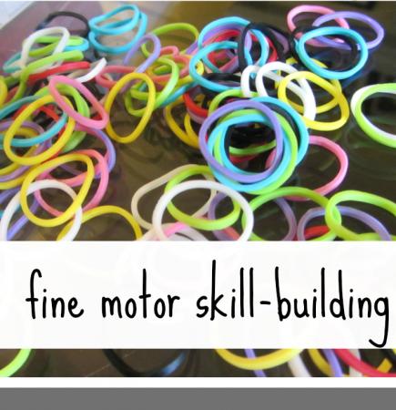 rainbow loom fine motor skill building teachmama.com