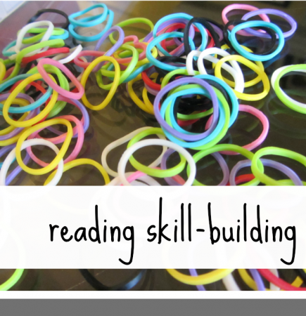 rainbow loom reading skill building teachmama.com