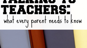 when talking to teachers: 5 tips for parents