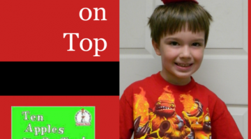 math and writing: ten apples up on top