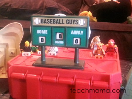 lego baseball | sneaky math fun