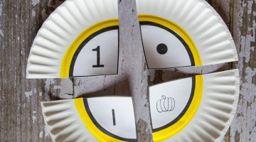 paper plate puzzles: fun number learning for kids
