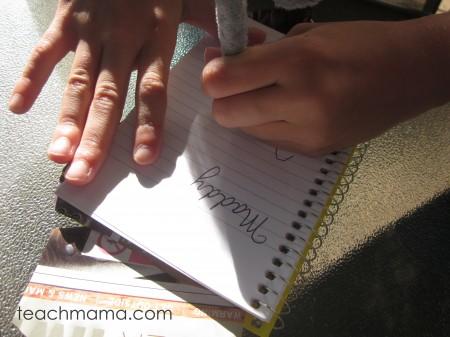 teach left handed kids to write