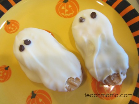 halloween cookie ghosts