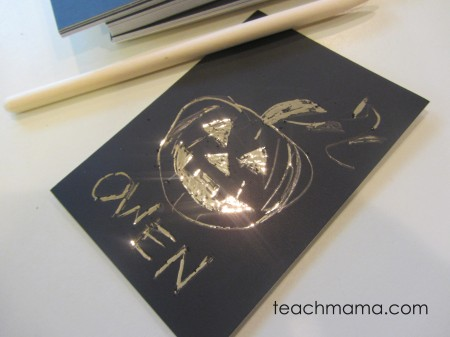 new ideas for halloween treats scratch art