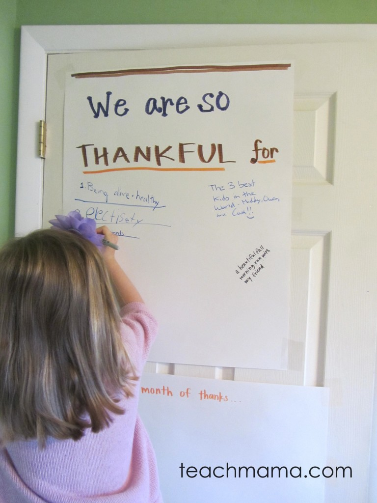 thankful graffiti door -